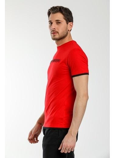 Slazenger Slazenger MASSIVE Erkek T-Shirt  Kırmızı